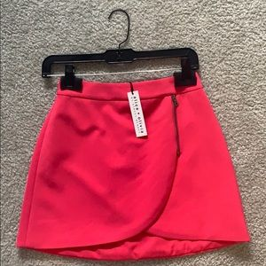 Alice and olivia zipper skirt